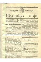 Csongrád vármegye Hivatalos Lapja 1916. - Régikönyvek