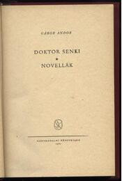 Doktor Senki - Novellák - Régikönyvek