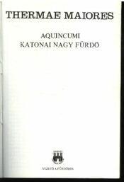 Aquincumi katonai nagy fürdő - Régikönyvek