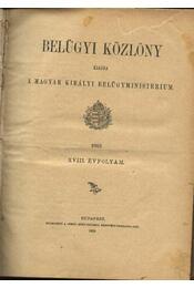 Belügyi közlöny - Régikönyvek