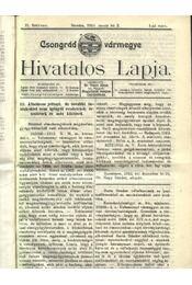 Csongrád vármegye Hivatalos Lapja 1913. - Régikönyvek