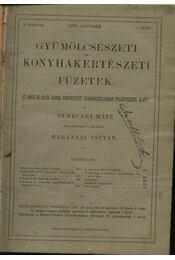 Gyümölcsészeti és konyhakertészeti füzetek 10. évfolyam - Régikönyvek