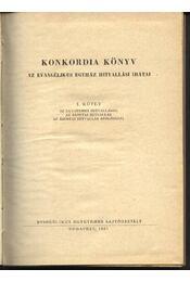 Konkordia könyv I. - Régikönyvek