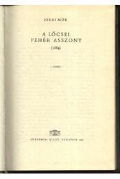 A lőcsei fehér asszony I-II. kötet - Régikönyvek