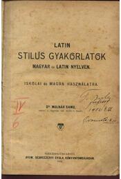 Latin stílusgyakorlatok magyar és latin nyelven - Régikönyvek