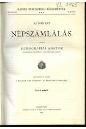 Az 1930. évi népszámlálás 1. rész - Régikönyvek