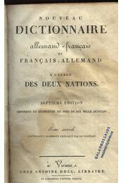 Nouveau dictionnaire allemand-francais et francais-allemand - Régikönyvek