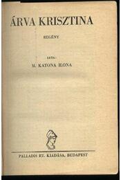 Árva Krisztina - Régikönyvek