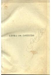 A római jog institutiói - Régikönyvek