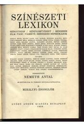 Színészeti lexikon II. - Régikönyvek