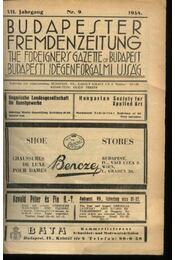 Budapesti Idegenforgalmi Újság, The forigners' gazette of Budapest, Budapester Fremdenzeitung 1934. Nr. 9. - Régikönyvek