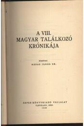 A VIII. Magyar Találkozó krónikája 1969. - Régikönyvek
