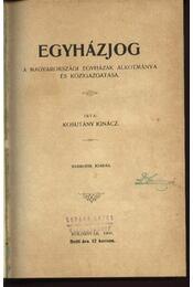 Egyházjog - Régikönyvek