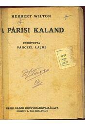 A párisi kaland - Régikönyvek