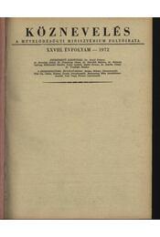 Köznevelés 1972. év - Régikönyvek