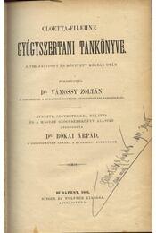 Cloetta-Filehne gyógyszertani tankönyve - Régikönyvek