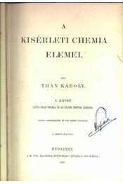 A kisérleti chemia elemei I. - Régikönyvek