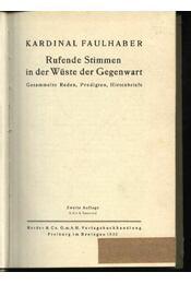 Rufende Stimmen in der Wüste der Gegenwart - Régikönyvek