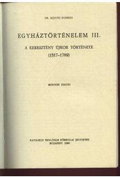 Egyháztörténelem III. - Régikönyvek