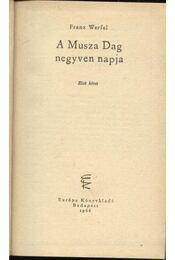 A Musza Dag negyven napja I-II. - Régikönyvek
