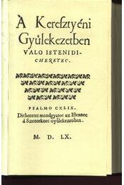 A Kerefztyén Gyúlekezetben valo istenidi-cheretec - Régikönyvek