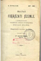 Magyar fogászati szemle - Régikönyvek