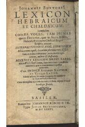 Lexikon hebraicum et chaldaicum - Régikönyvek
