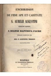 Enchiridion de fide spe et caritate s. aurelii augustini - Régikönyvek