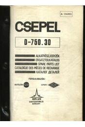 CSEPEL D-750.30 teherautó alkatrész katalógus - Régikönyvek