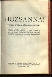 Hozsanna! (1961) - Régikönyvek
