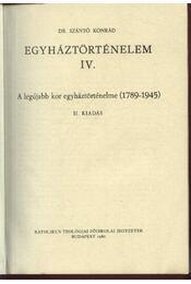 Egyháztörténelem IV. - Régikönyvek