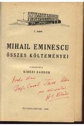 Mihail Eminescu összes költeményei - Régikönyvek