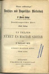 Uj teljes német és magyar szótár (1882) - Régikönyvek