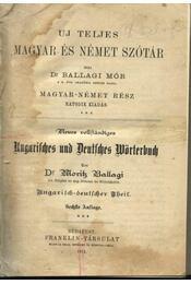 Uj teljes magyar és német szótár (1914) - Régikönyvek
