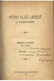 Péter első levele 22 prédikációban - Andrási Tivadar - Régikönyvek