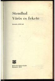 Vörös és fekete - Régikönyvek