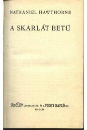 A skarlátbetű - Régikönyvek