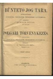 Büntető jog tára, Polgári törvénykezés XXXIV. kötet (1897. év) - Régikönyvek