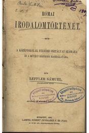 Római irodalomtörténet - Régikönyvek