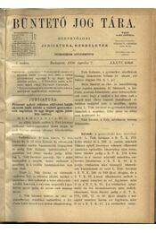 Büntető jog tára, Polgári törvénykezés XXXVI. kötet (1898. év) - Régikönyvek