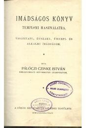 Imádságos könyv templomi használatra - Régikönyvek