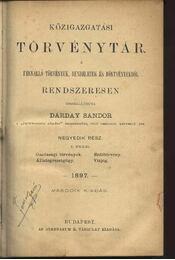 Közigazgatási törvénytár - Régikönyvek