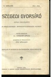 Szegedi Gyorsíró - Régikönyvek