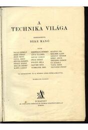 A technika világa - Régikönyvek