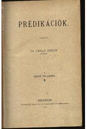 Prédikációk; Hét beszéd - Dr. Perlis Ármin, Lőw Immánuel - Régikönyvek