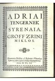 Adriai tengernek Syrenaia - Régikönyvek
