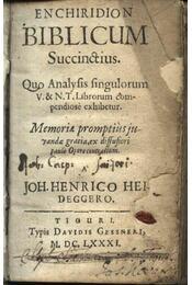 Enchiridion biblicum succinstius - Régikönyvek