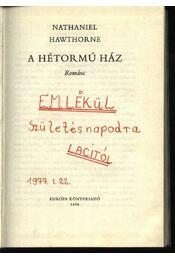 A hétormú ház - Régikönyvek