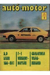 Autó-motor 1980. január-december (teljes) - Régikönyvek