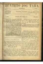 Büntető jog tára, Polgári törvénykezés XX.kötet (1890. év) - Régikönyvek